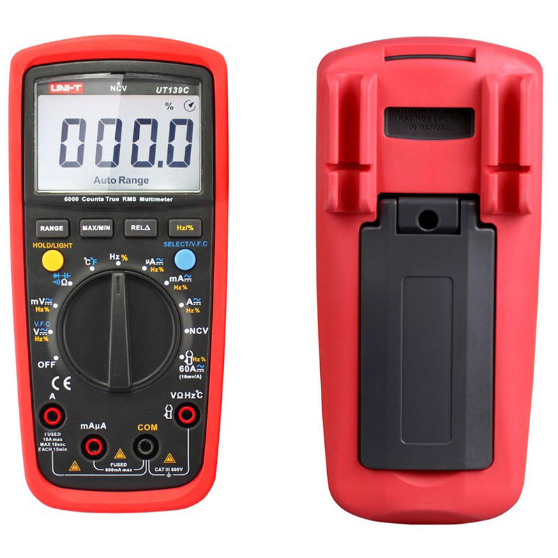 UNI-T UT139C Electrical Digital LCD True Rms Multi Meters Handheld Multimetro Tester Ammeter