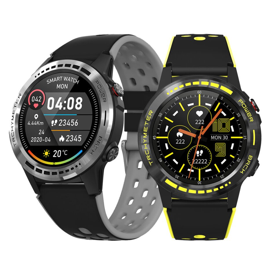 [bluetooth Call]Bakeey M7 GPS+GLONASS+BEIDOU Positioning Compass Altimeter Barometer Outdoor Watch Heart Rate Blood Pressure Monitor Smart Watch