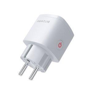 Αποθήκη CN | BlitzWolf BW SHP13 Zigbee 3.0 Smart WIFI Socket 16A EU Plug Electricity Metering APP Remote Controller Timer Work with Amazon Alexa Google Home