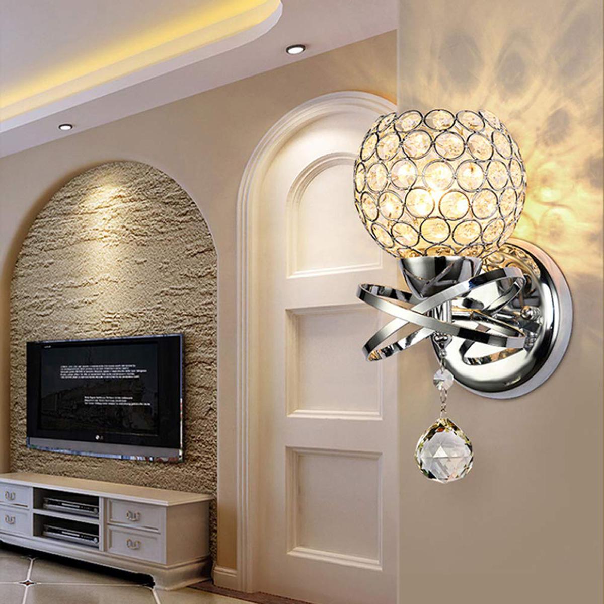 40 Led Modern Crystal Wall Lamp Sconce Light For Bedroom Hallway Sale Banggood Com Arrival Notice Arrival Notice