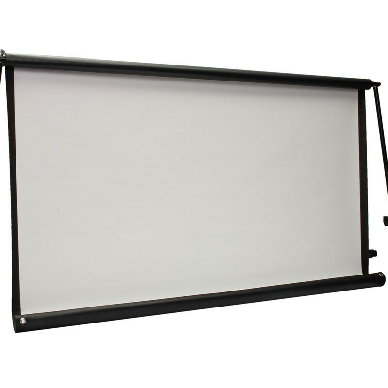 100inch 16:9 Projector HD Screen Portable Folded Front projection screen fabric with eyelets without Frame