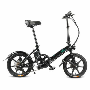 FIIDO D3S Shifting Version 36V 7.8Ah 250W 16 Inches Folding Moped Bicycle 25km/h Max 60KM Mileage Electric Bike