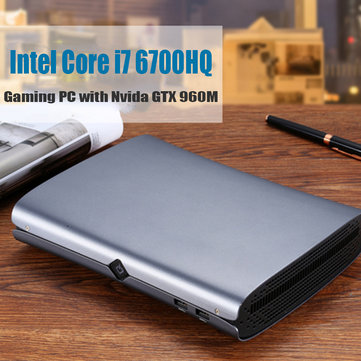 HYSTOU M1 Mini PC Intel Core i7-6700HQ 8GB+128GB 8GB+256GB NVIDIA GTX 960M Win10 with fan Type-C S/PDIF 5G Wifi Bluetooth 4.0 HDMI DP Output HTPC Gaming PC Computer