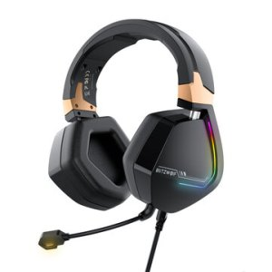 BlitzWolf® BW-GH2 Gaming Headphone 7.1 Channel 53mm Driver USB Wired RGB Gamer Headset with Mic for Computer PC PS3/4 – 7.1 channel + USB