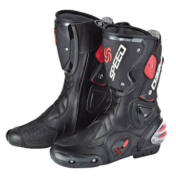 Pro-Biker Fiber Leather Motorcycle Off Road Racing Boots