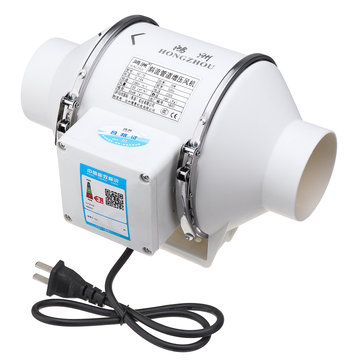 220v 35w 3 inch inline duct hydroponic air blower ventilation system exhaust vent fan