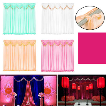 wedding party backdrop curtains background decor draping removable swags decor