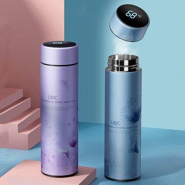 IPRee® 450ML Vacuum Cup Colorful Temperature Display Water Bottle Traveling 304 Stainless Steel Water Cup