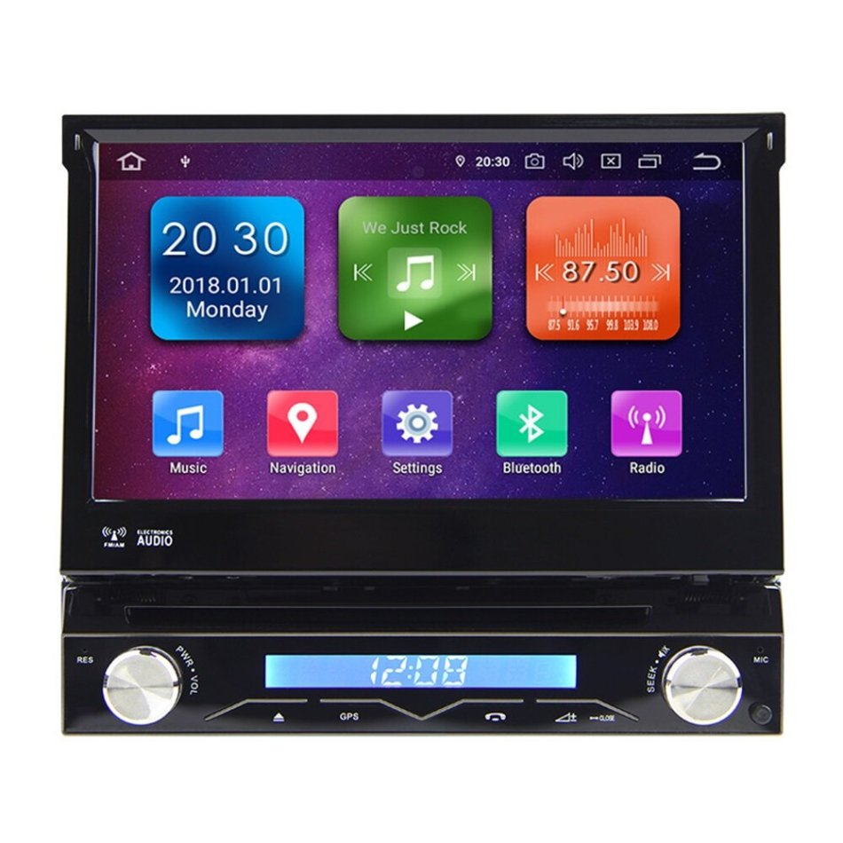 7 Inch 1 Din for Android 10.0 Car Stereo Radio DVD Player 8 Core 4G+64G Full Touch Capacitive Screen GPS DAB+ Torqu Pro Wifi Mirror Link