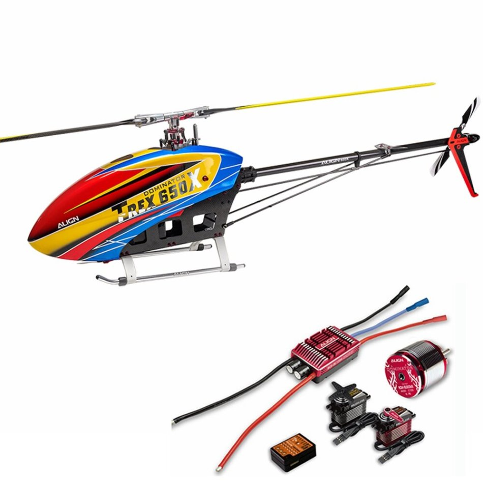 ALIGN T-REX 650X F3C 6CH 3D Flying RC Helicopter Super Combo with Brushless Motor ESC Servo Flybarless System