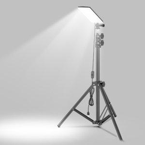 Στα 17€ από αποθήκη Κίνας βοηθητικά φώτα για τα βίντεο σας και όχι μονο   XANES® 84*LEDs 1680LM 1.8m Height Adjustable LED Camping Light with Tripod 6500-7000K Brightness Stand Lantern Work Light For Camping Maintain Photography