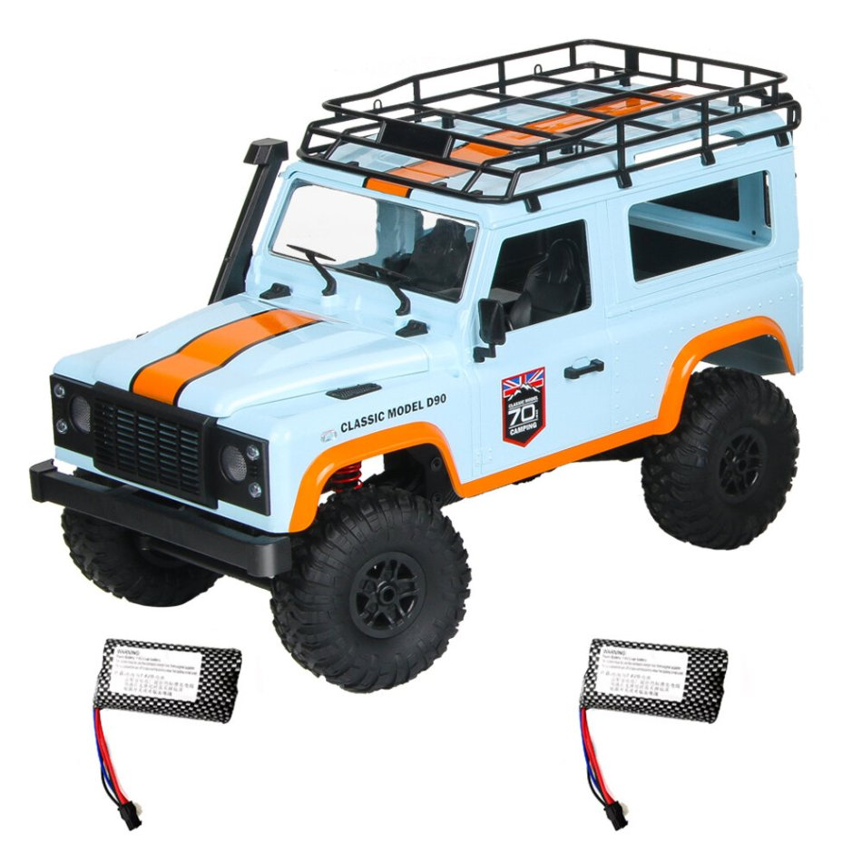 MN 99 2.4G 1/12 4WD RTR Crawler RC Car Off-Road Truck For Land Rover Vehicle Model Two Battery