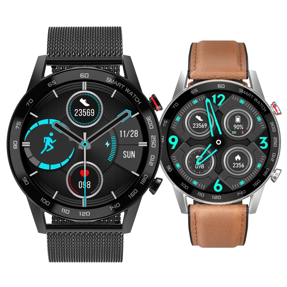[bluetooth Call]DT NO.1 DT95 Full-round Touch Screen ECG+PPG Heart Rate Blood Pressure Oxygen Monitor Music Playback Multiple Dials IP68 Smart Watch