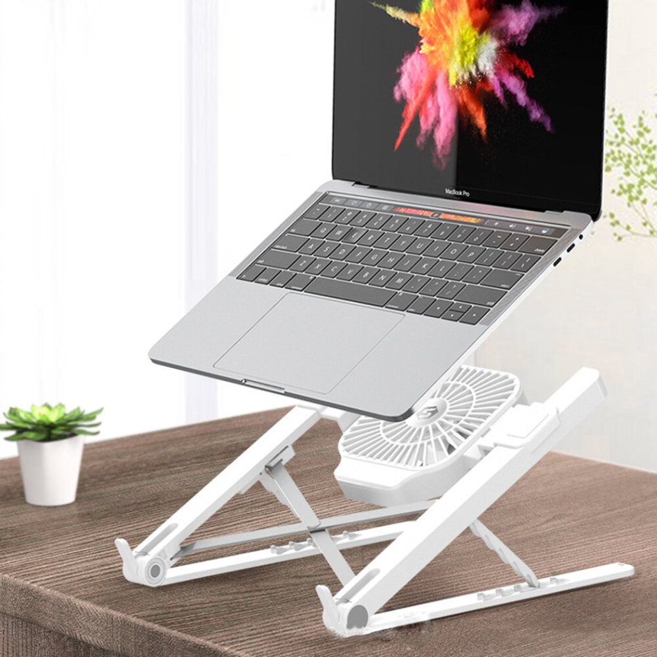 Suohuang SZJ-036S409 Notebook Computer Laptop Stand Cooling Pad 1 Fans USB Adjustable Heightening Shelf Portable Lifting Bracket