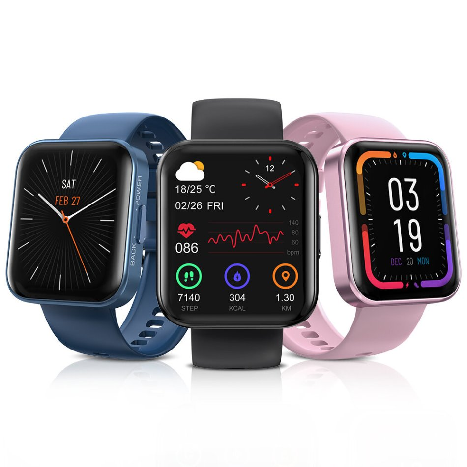 [Real SpO2 Monitor] KOSPET MAGIC 3 1.71 inch 3D Curved Full Touch Screen Heart Rate Blood Pressure Monitor 50+ Watch Face 20 Sports Mode Smart Watch