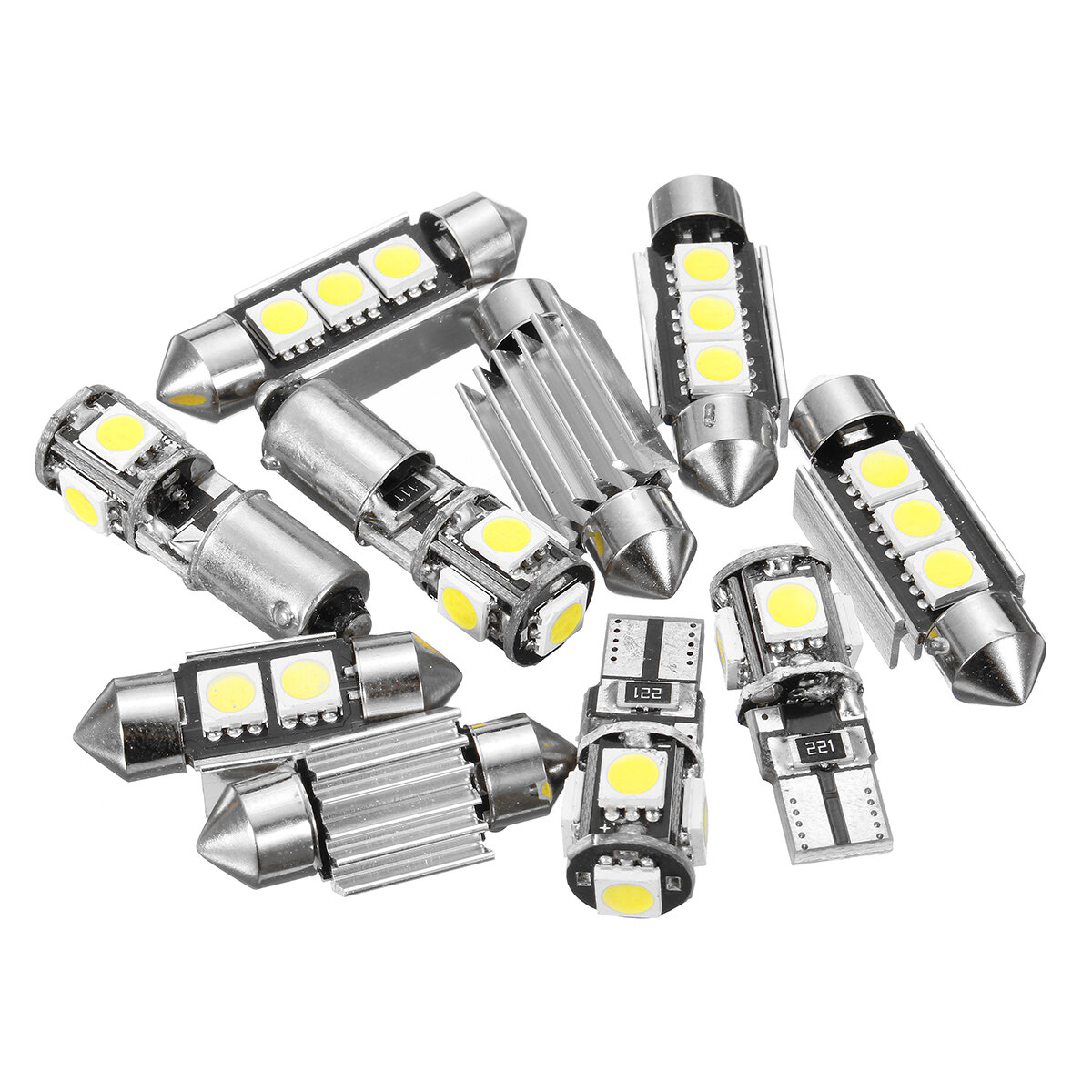 12v White Car Interior Led Lamp Replacement Bulb Reading