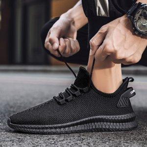 Στα 16€ από αποθήκη Κίνας | TENGOO Men's Running Shoes Antibacterial Ultralight Breathable Sports Sneakers Walking Shockproof Casual Shoes
