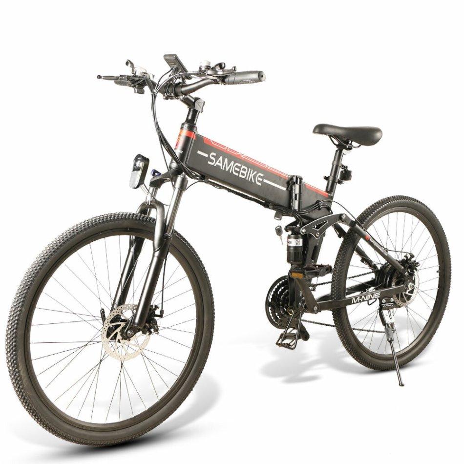 SAMEBIKE LO26 10Ah 48V 500W Folding Moped Electric Bike 26 in 35km/h Top Speed 80km Mileage 150kg Max Load E-bike Mountain Bike