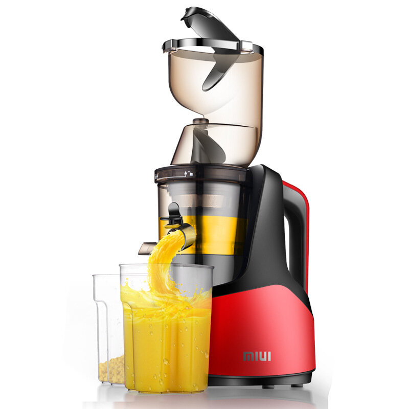 MIUI JE-B03B Juicer 150W Juicer Extractor Machine Slow Masticating Easy to Clean Quiet Motor for Vegetables and Fruits Juice