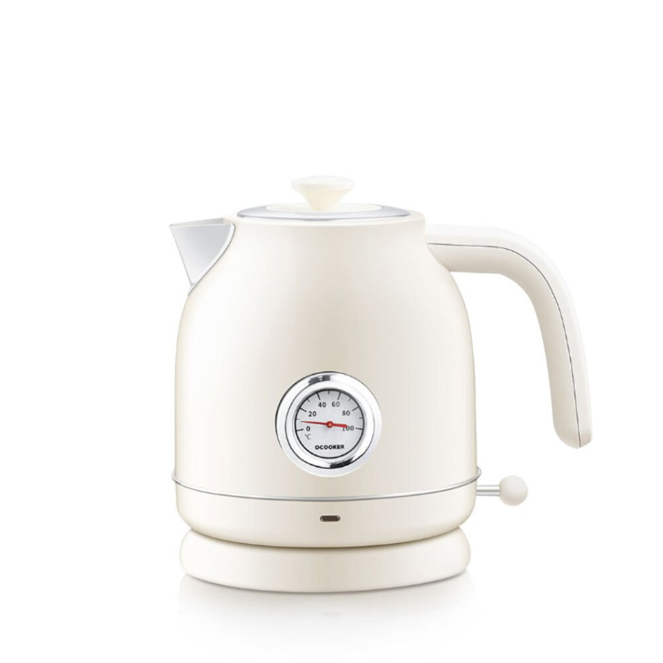 OCOOKER CS-SH01 1.7L / 1800W Retro Electric Kettle with [ Thermometer Display ] Stainless Steel Water Kettle From Xiaomi Youpin