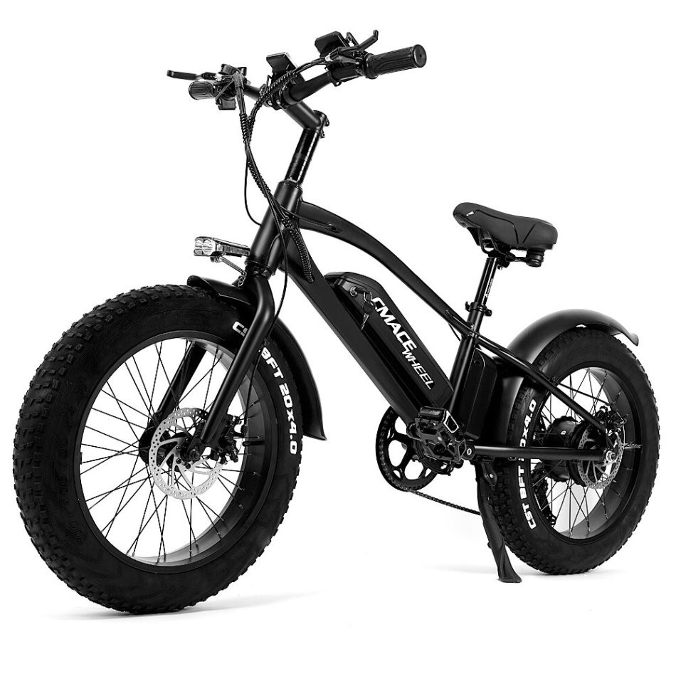 [EU DIRECT] CMACEWHEEL T20 Moped Electric Bicycle Double Battery 10Ah 750W 20*4in Fat Tire Electric Bike Max Speed 45km/h Mileage 120km E-Bike