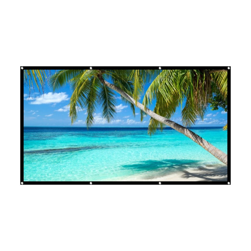 Home HD Screen 120 inch 16: 9 Projector Projection Screen Outdoor Portable Folding Simple Screen