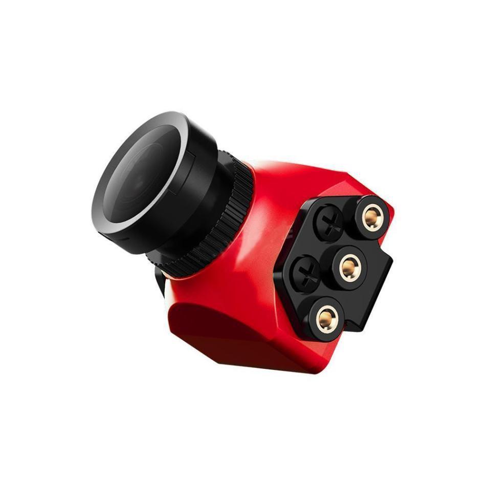 Foxeer Arrow Mini Pro 2.5mm 650TVL 4:3 WDR FPV Camera Built-in OSD With Bracket NTSC/PAL Black/Red