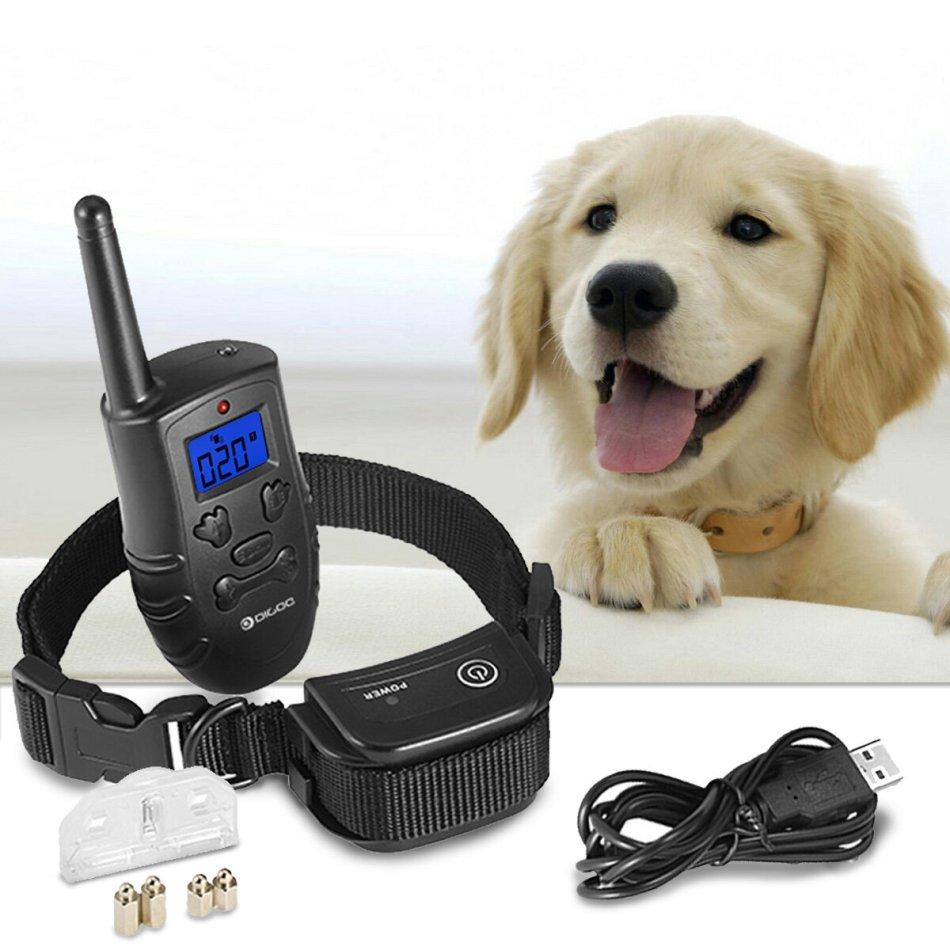 Digoo DG-PPT1 Pet Dog Rechargeable Trainer Waterproof Stop Barking Collars Remote Dog Training Collar