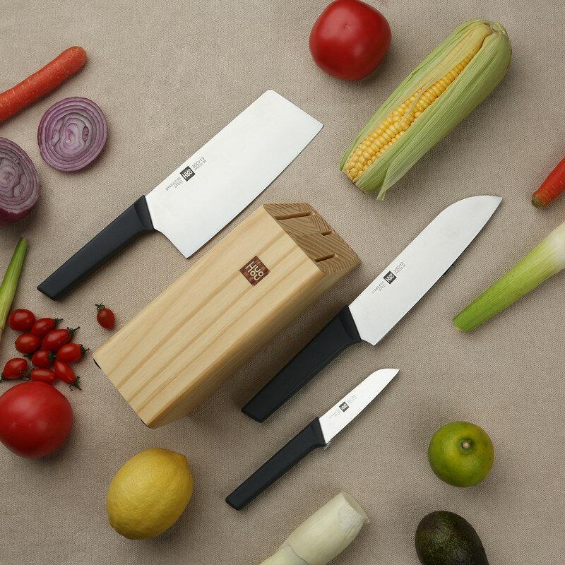 Ευρωπαϊκή αποθήκη | HuoHou 4 Pcs Non-Stick Stainless Steel Kitchen Knife Set Chef Knife Chopper Cleaver Slicer Fruit Knife Blade from Xiaomi Youpin