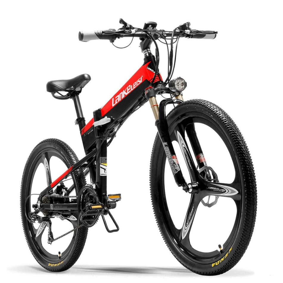 LANKELEISI XT600 10.4Ah 48V 400W 26Inch Folding Moped Electric Bike 100Km Mileage Max Load 120kg With EU Plug Electric Bicycle