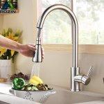 Στα 26€ από αποθήκη Πολωνίας | Kitchen Pull-Out Faucet Tap Mixer Spout Finish Brushed Swivel Spray 360° Swivel