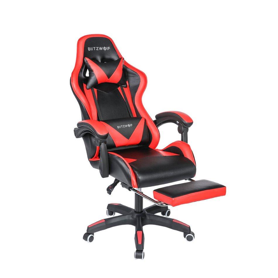 BlitzWolf® BW-GC1 Gaming Chair Ergonomic Design 150°Reclining Detachable Pillows Footrest Integrated Armrest Home Office