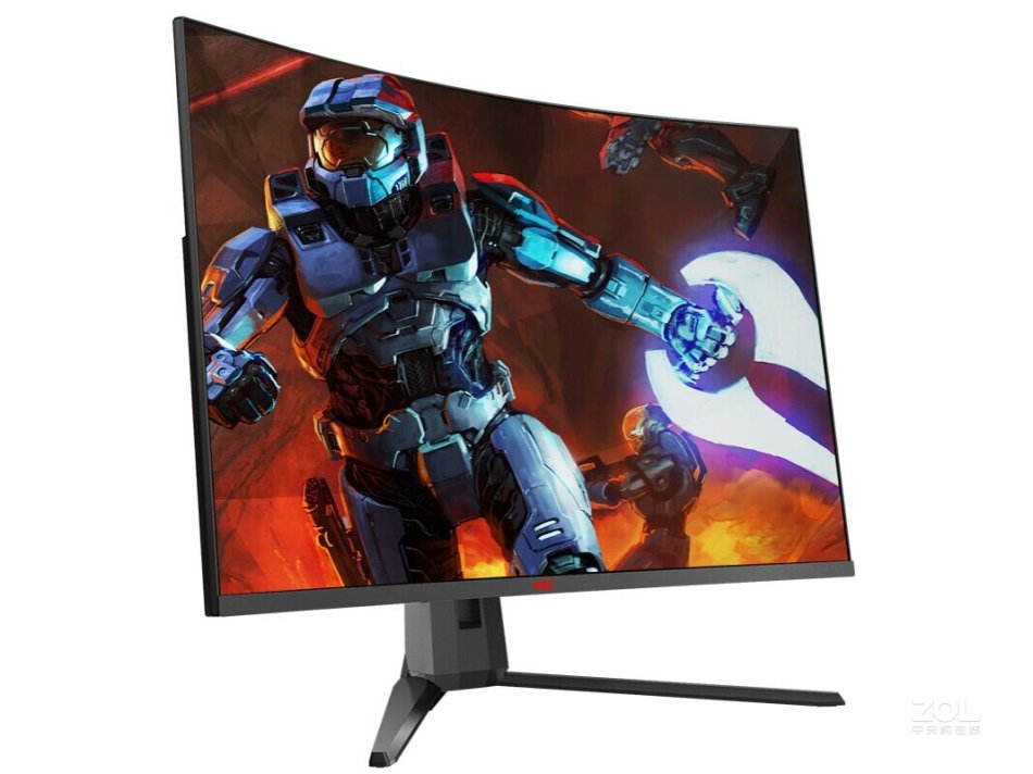 HKC GX329QN Curved Gaming Monitor 32-Inch 144Hz High Refresh Rate 1500R Curvature WQHD 2560*1440 Resolution 85% NTSC Wide Color Gamut G-Sync Technology Display