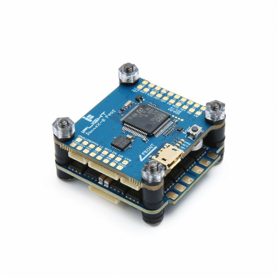 iFlight SucceX-E F4 Flight Controller OSD & 45A Blheli-S 2-6S 4 In 1 Brushless ESC Stack 30.5x30.5mm for RC Drone Frame