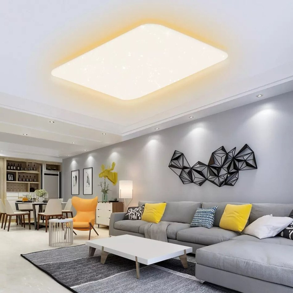 Yeelight ChuXin S2001 100W Colorful Side Light Edition Smart Ceiling Light Dimmable Bluetooth Remote APP Voice Control Works With MiHome Siri Homekit