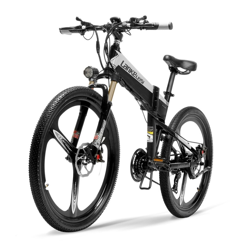 LANKELEISI XT600 12.8Ah 48V 400W 26Inch Folding Moped Electric Bike 100Km Mileage Max Load 120kg With EU Plug Electric Bicycle