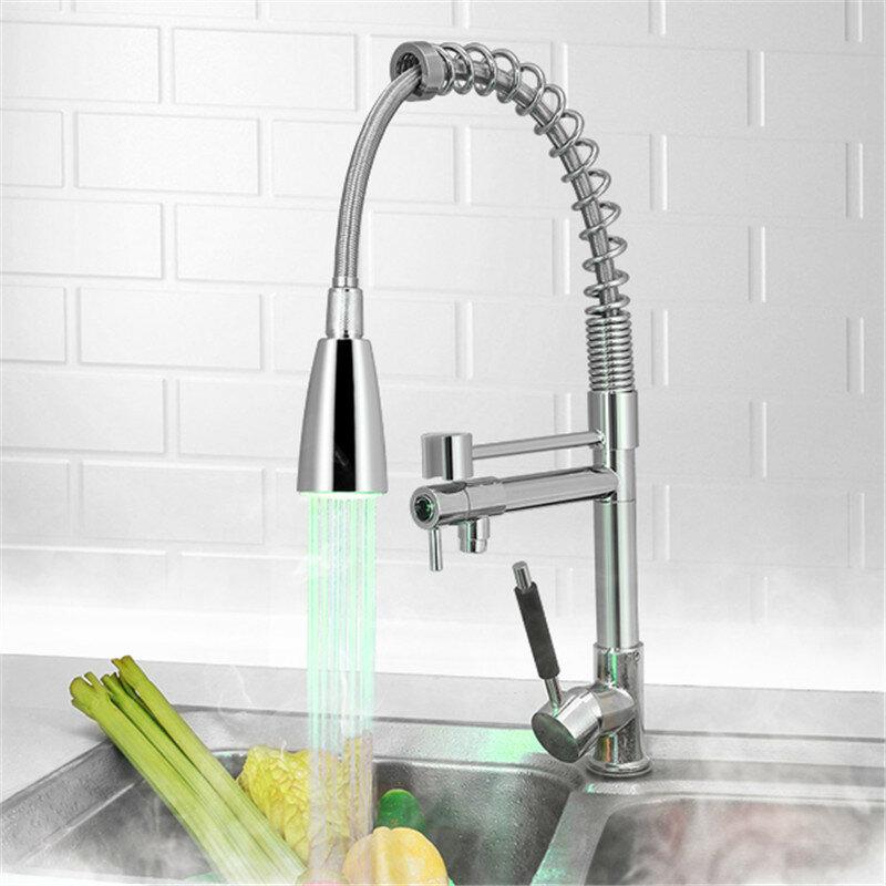 1x led kitchen faucet tap temperature