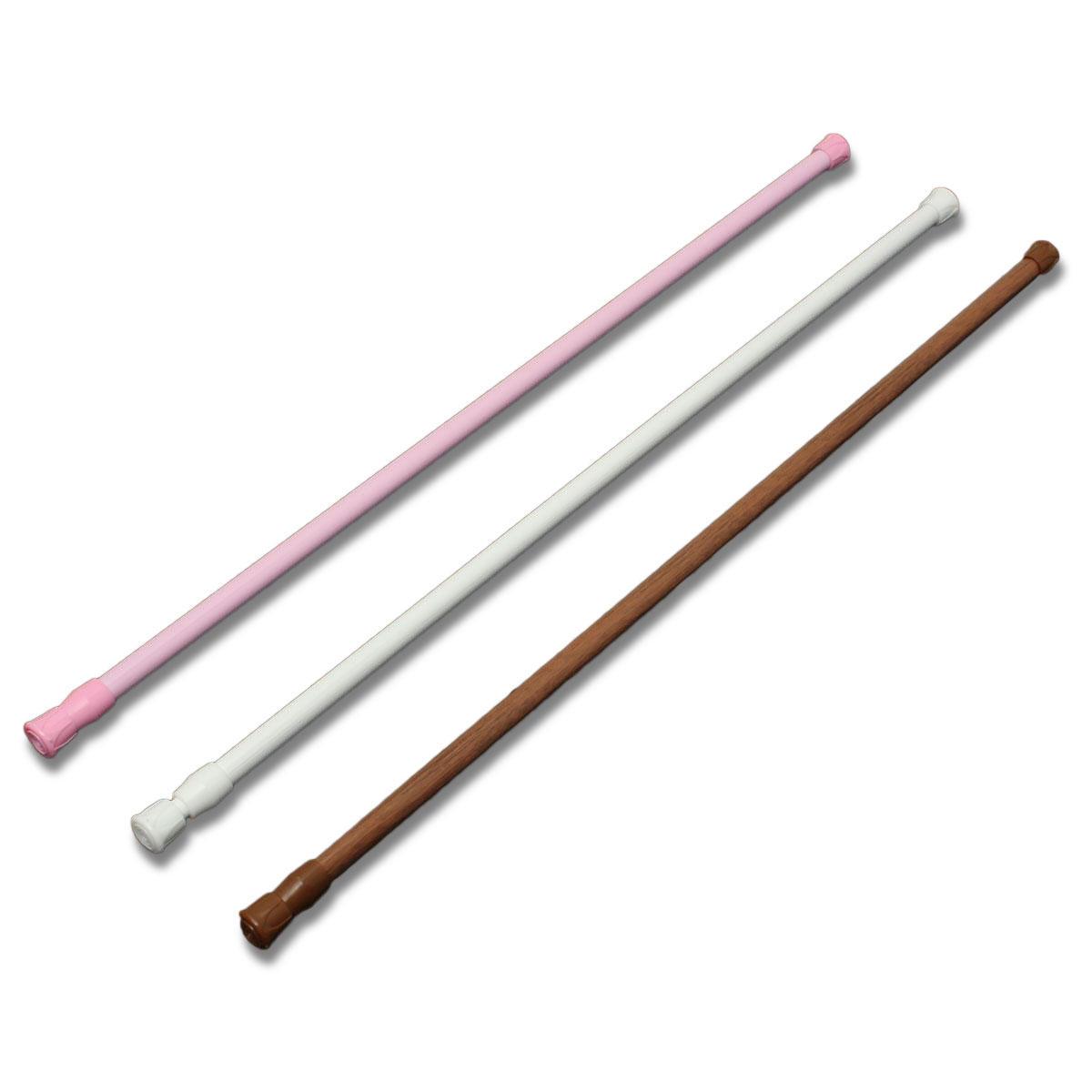 60 110cm Extendable Adjustable Spring Tension Curtain Rod Pole Telescopic Pole Shower Curtain Rod