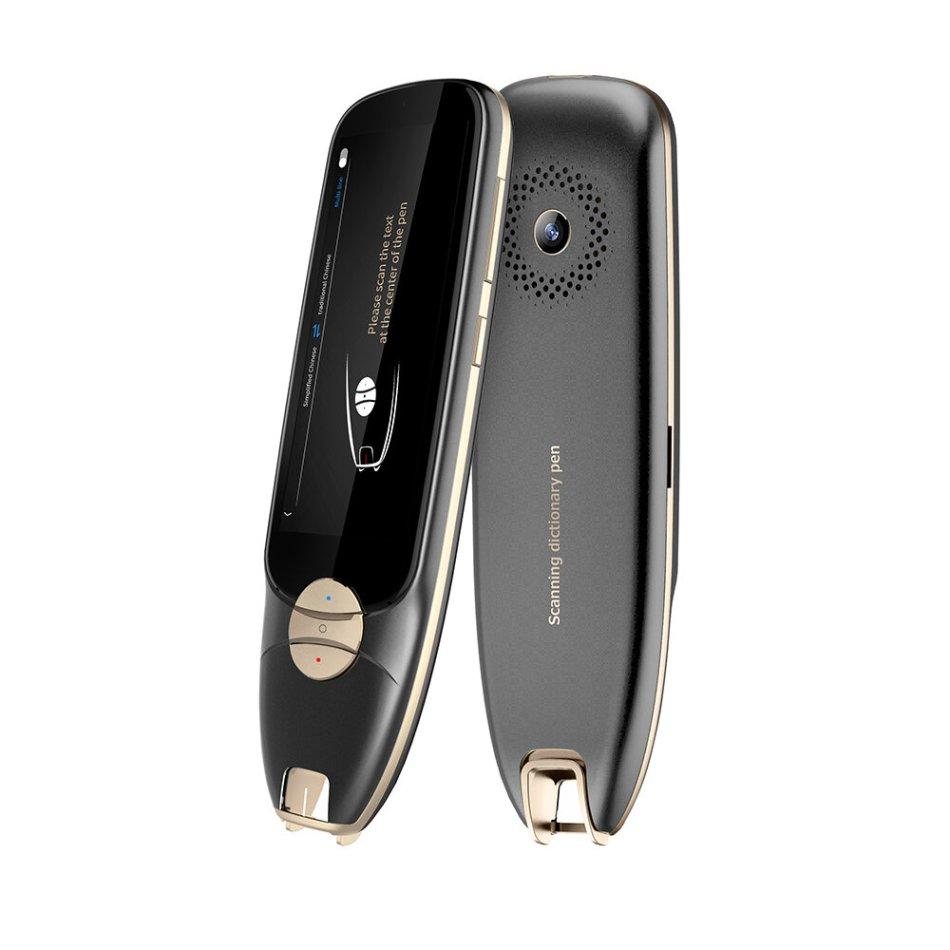 Boeleo S35 OCR Reader Pen Translator Offline 11 Languages Scanning and Photo Translation + Online 116 Languages Voice Translation Dictionary Pen Wifi Bluetooth V4.0 Support Upload Left/Right-handed for Language Learners