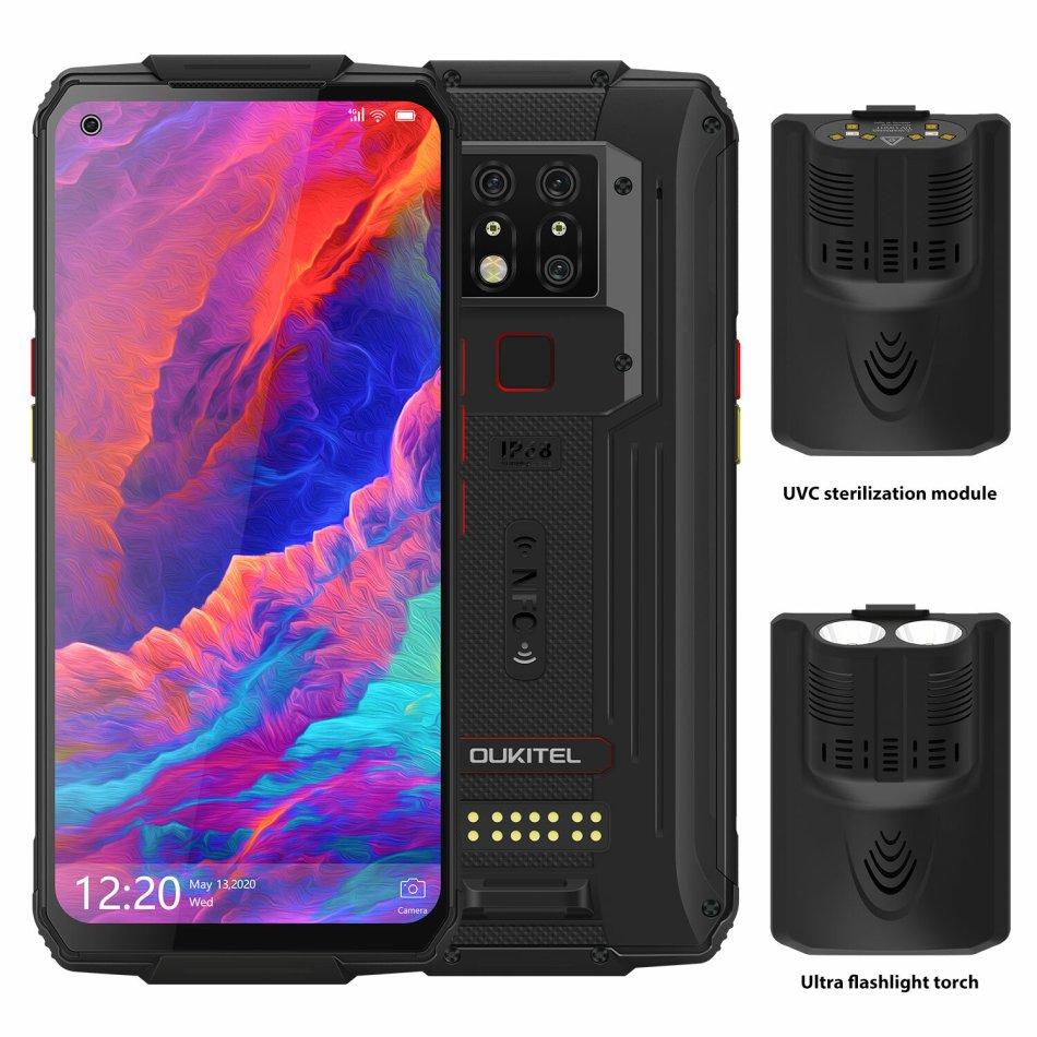 OUKITEL WP7 Super Bundle Global Bands IP68 Waterproof 6.53 inch FHD+ NFC 8000mAh 48MP Triple Camera Android 9.0 8GB 128GB Helio P90 4G Smartphone