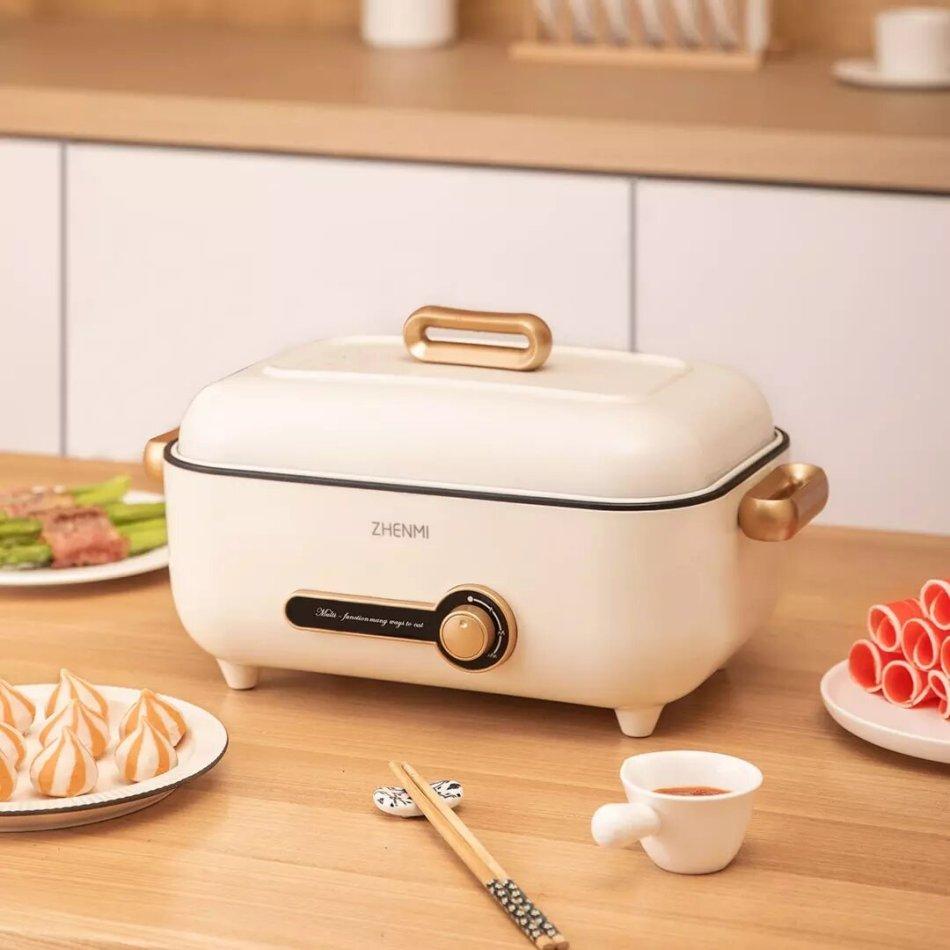 ZHENMI ZM-ED4001 Multi-Function Cooking Pot Heat Insulation Anti-Scalding Nonstick Pan 1500W