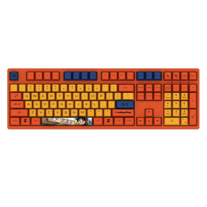 AKKO 3108 V2 DragonBall Z GOKU 108 Key Dyesub PBT Keycaps Cherry MX Switch Mechanical Gaming Keyboard Red Switch