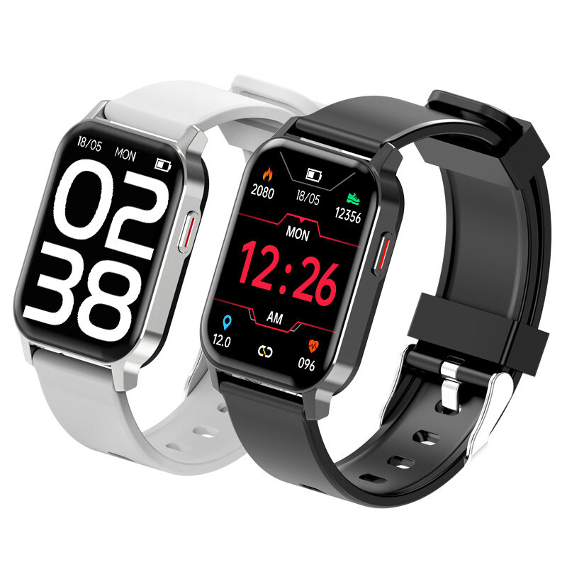 [Real-Time Temperature Monitor] Bakeey ZM09 1.69 inch IPS Screen BT5.0 Heart Rate Blood Pressure Oxygen Monitor Music Control Multi-Dial IP68 Waterproof Smart Watch