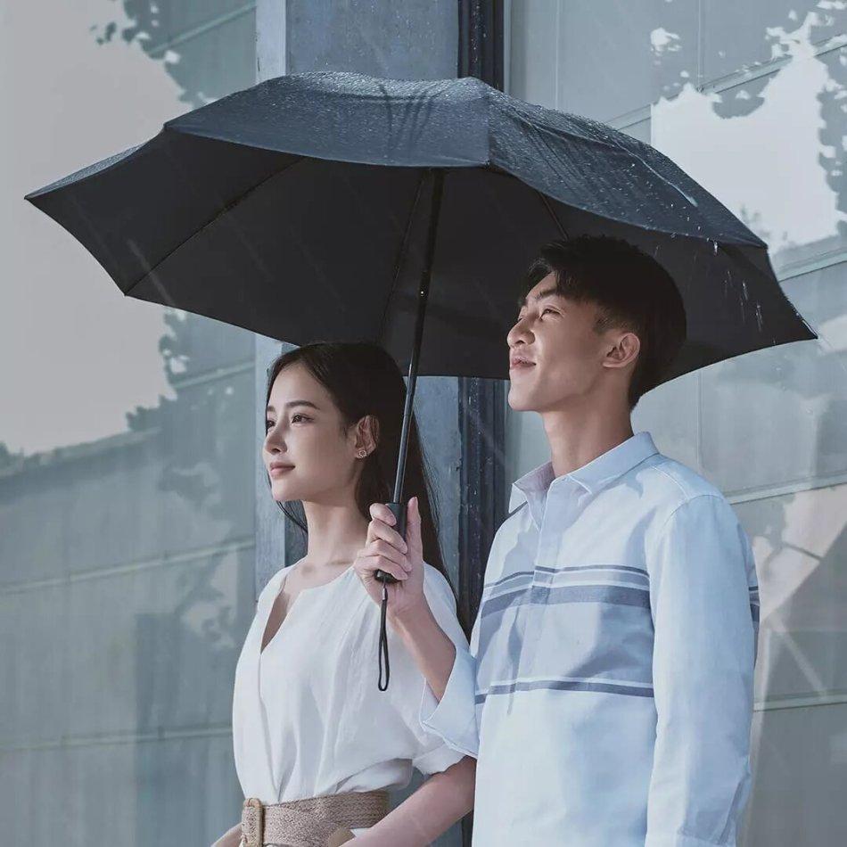 90Fun 8K Automatic Reverse Folding Umbrella Led Luminous Windproof Wind Resistant Umbrella UPF50+ Anti UV From Xiaomi Youpin