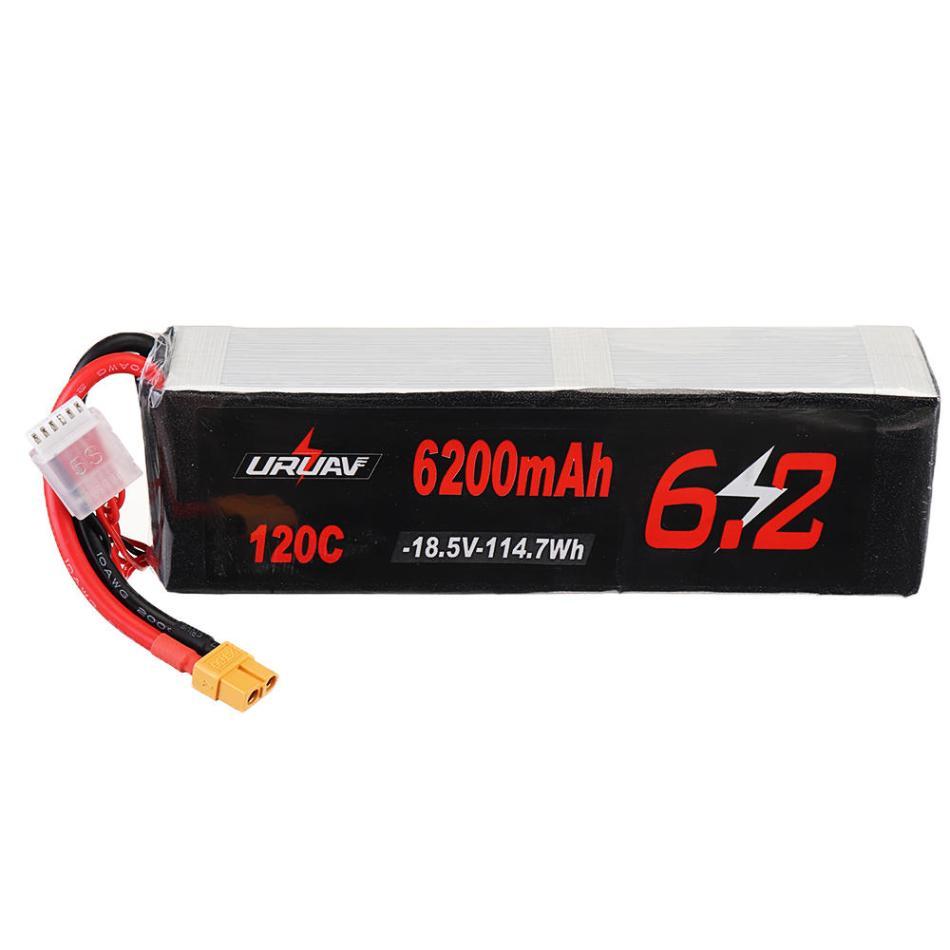 URUAV 18.5V 6200mAh 120C 5S Lipo Battery XT60 Plug for RC Car Airplane Drone
