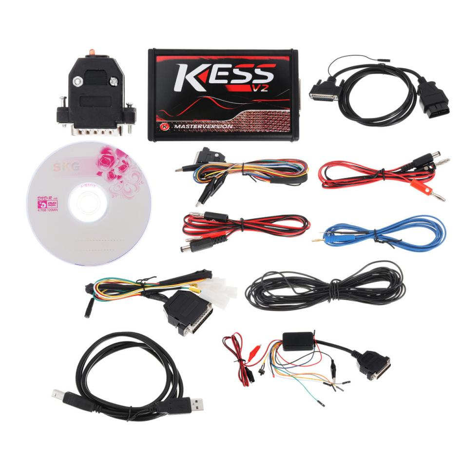 Red EU Version KESS V5.017 No Token Limit KESS V2 Manager ECU Programmer Car Engine Diagnostic Analyzer
