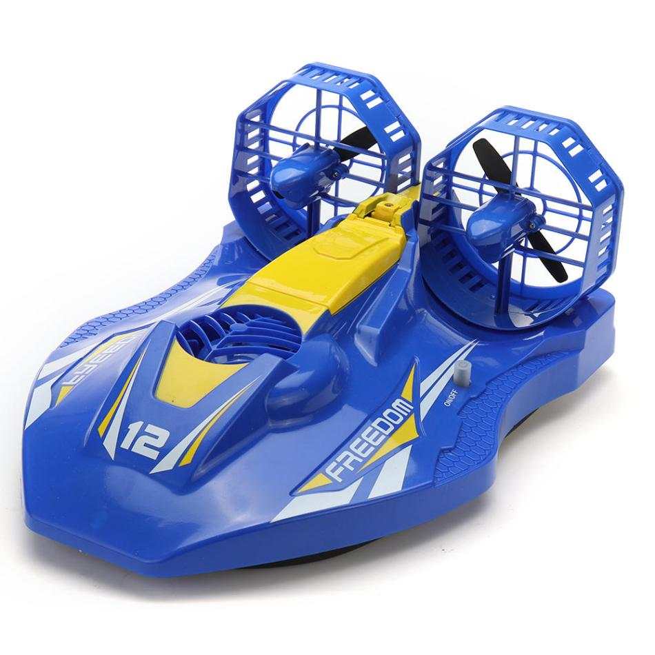 TKKJ A1 2.4G 4CH RC Twin-propeller Hovercraft EP Amphibious Boat with Double Motors RTR Model