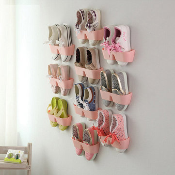 creative hanging shoe rack wall hang save space shoes holder