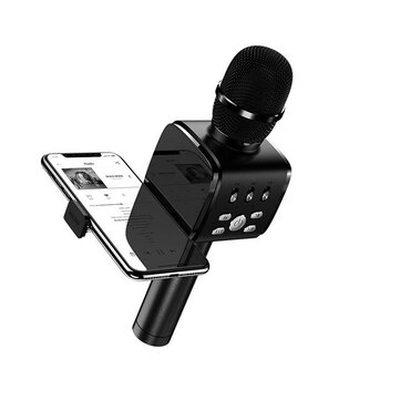 JOYROOM JR-MC3 2 in 1 Handheld Wireless bluetooth Multifunction Microphone with Phone Holder for Phone PC Karaoke Nights and House Parties