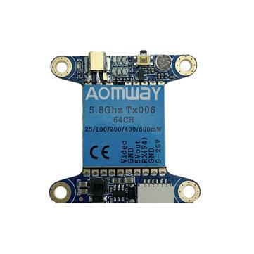 Aomway TX006 5.8Ghz 64CH 25mW/100mW/200mW/400mW/600mW FPV Transmitter VTX Support Betaflight OSD/Pitmode/Smart Audio